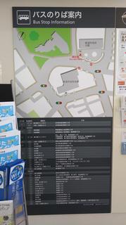 新潟市BRT市役所前バスのりば案内図