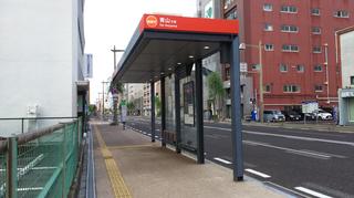 新潟市BRT東中通バス停